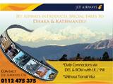 Special Fares to Dhaka & Kathmandu Jet airways
