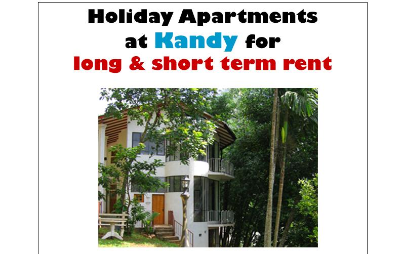 Kandy – Kuda Ratwatte Mawatha, 2 Holiday Apartments / also for long / short term rent